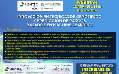 WEBINAR: INNOVACIÓN EN TÉCNICAS DE GENOTIPADO Y PREDICCIÓN DE RASGOS BASADOS EN MACHINE LEARNING