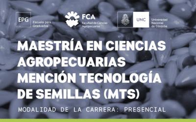 Maestría en Ciencias Agropecuarias Mención tecnología de semillas (MTS)